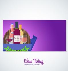 wine flyer banner backdrop template vector image