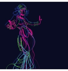 Tribal fusion gypsy dancer vector