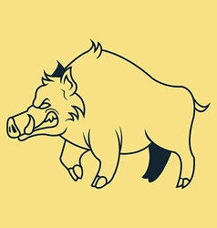 Hogs line art vector