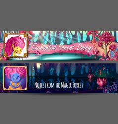 troll characters avatars horizontal banners vector image