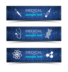 Healthcare banners set vector