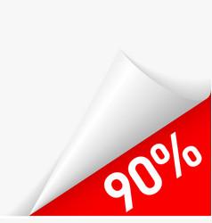 Paper corner discount vector image