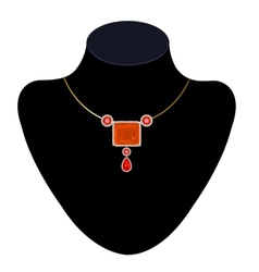 Necklace on a mannequin vector