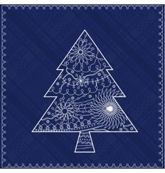 Christmas treebackground vector