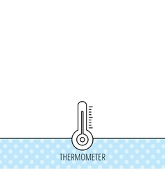 Thermometer icon weather temperature sign vector