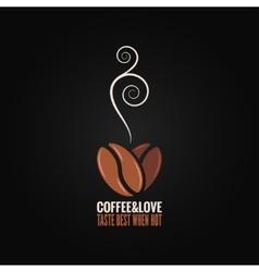 coffee bean logo love concept background vector image