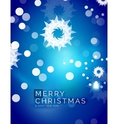 Christmas blue abstract background with white vector image