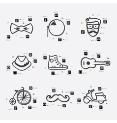 Hipster infographic vector