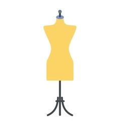 Dressmaker model flat icon vector
