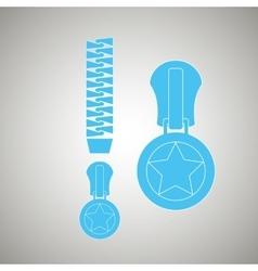 Zipper isolated design vector