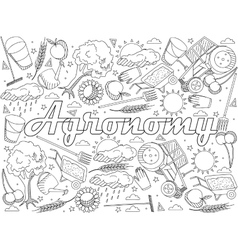Agronomy coloring book vector