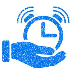 Alarm service grunge icon vector