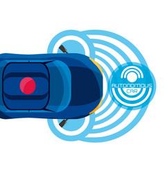 Autonomous car design vector