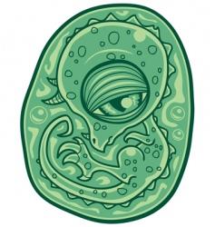 baby dinosaur embryo vector image vector image