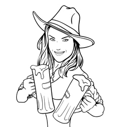Beer Girl vector image vector image