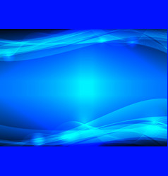 blue wave abstract graphic design with copy space vector image