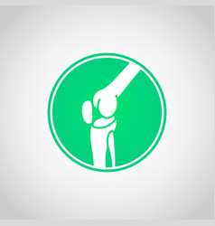 bone and joint health icon vector image vector image