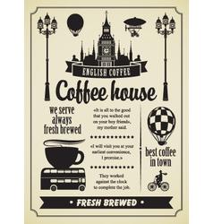 coffee retro set 02 vector image vector image