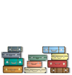 Colored suitcases vector image