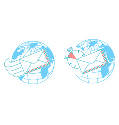 concept of delivery post day vector image vector image