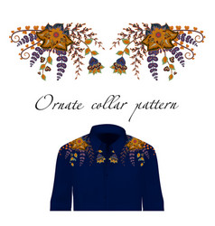 design for collar shirts and blouses vector image vector image