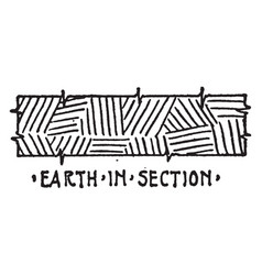 Earth in section material symbol insulation is vector