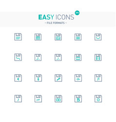 Easy icons 39e file formats vector