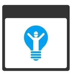 Electrician calendar page toolbar icon vector