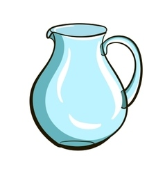 Empty glassy jug vector