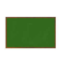 Empty green chalkboard texture on white wall vector
