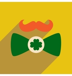 Flat web icon with long shadow mustache butterfly vector