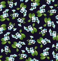 Floral pattern with little blue flowers vector image