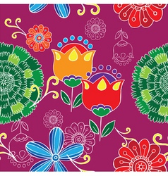 floral print vector image vector image