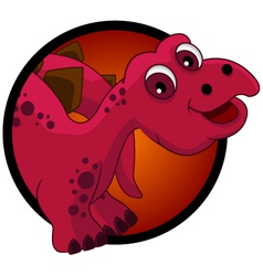 funny dinosaur head cartoon vector image