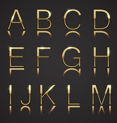 Golden Letters with Diamonds vector image vector image