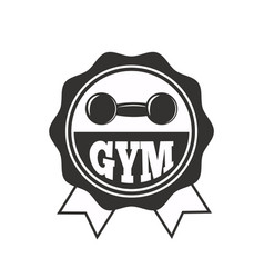 gym sport club fitness emblem vector image vector image