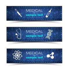 Healthcare banners set vector