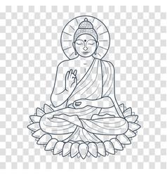 Icon buddha silhouette vector