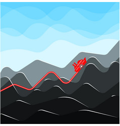 infographics with growing indicators in the form vector image