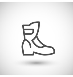 Motorcycle boot line icon vector