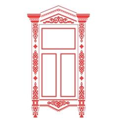 russian window vector image vector image
