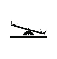 Seesaw black simple icon vector image vector image