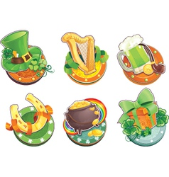 St Patricks Day symbols vector image vector image
