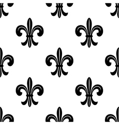 Stylized french fleur de lys seamless pattern vector