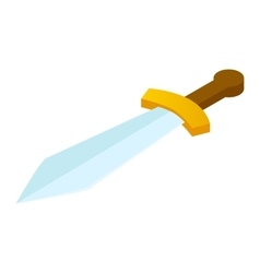 Sword isometric 3d icon vector
