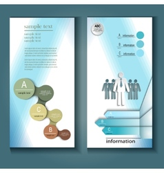 Template flyer for business theme vector image