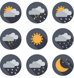 Weather icons flat design vector