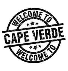 Welcome to cape verde black stamp vector