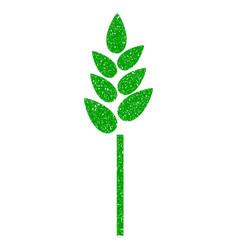 wheat ear icon grunge watermark vector image