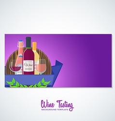 wine flyer banner backdrop template vector image vector image